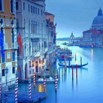 Beautiful view of Venice during a period of seasonal high water