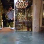 Flood in Venice during a period of seasonal high water