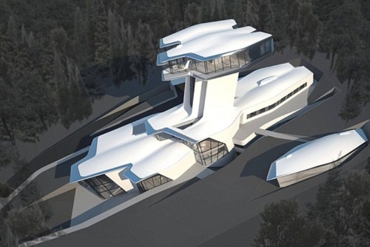 Vladislav built a house in Moscow special for Naomi. This house looks like spaceship.