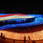 Millions of sparkling LEDs that cover the entire territory of the huge garden. The world's largest light installation 'Winter light' in Japan