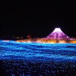 Picturesque light installation 'Winter light' in Japan
