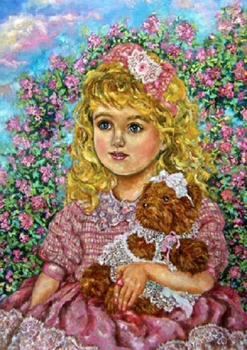 Yumi Sugai - A girl with the teddy bear