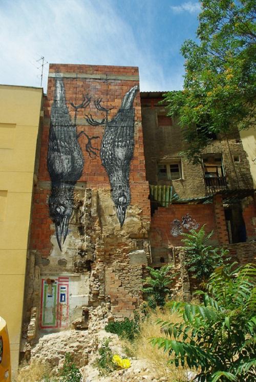Zaragoza. 5°Asalto – Mural Painting Festival. Street art by Belgian graffiti artist Roa