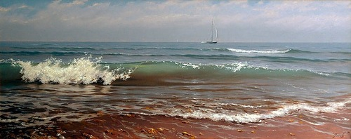 Painting by Russian artist Alexey Adamov