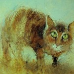 Red cat. Painting by Russian artist Igor Medvedev