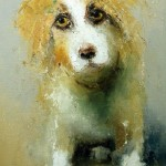 Man's friend. Painting by Russian artist Igor Medvedev