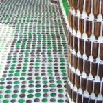 Walkway of bottles