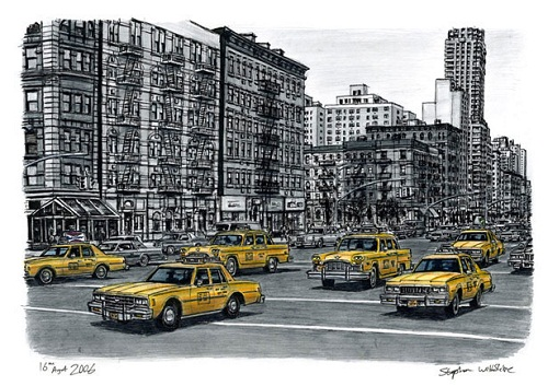 cityscape drawing by Stephen Wiltshire