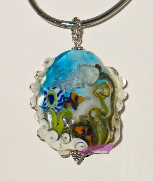 Glass jewelry by Tatiana Semykina