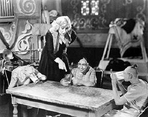 "Scene from horror film ""Freaks"", directed and produced by Tod Browning"