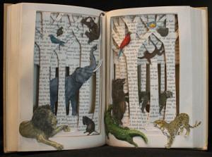 """Animal Story"" Book Sculpture"