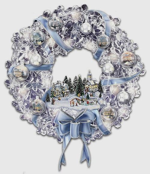 Christmas decorations by Thomas Kinkade