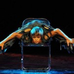 Circus performance. Russian contortionist Alexey Goloborodko