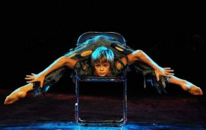 Circus performance. Russian contortionist Alexey Goloborodko