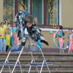 Doing gymnastics, Alexey Goloborodko