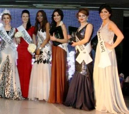 Arab beauties contest Miss Arab World 2012, Giza, Egypt