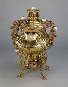 "Russian Samovar with monogram ""НII"" under the imperial crown by Peter Carl Faberge (1846-1920)"