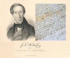 The priceless manuscript of the earliest tales of Hans Christian Andersen has been found In Denmark.