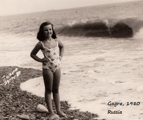 11-year-old Valeria at the seaside, Gagra, Russia