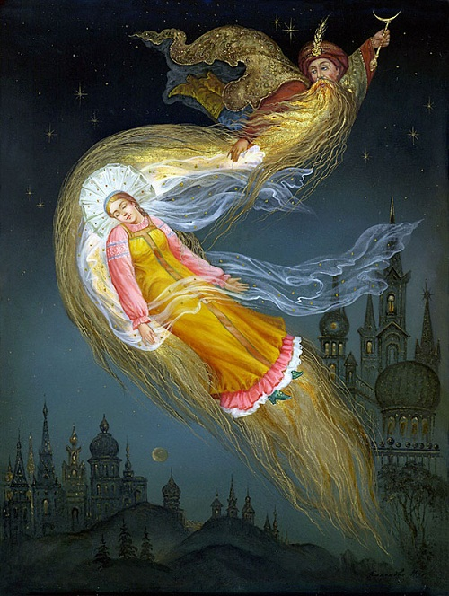 Russian Fairy tales in Fedoskino miniature