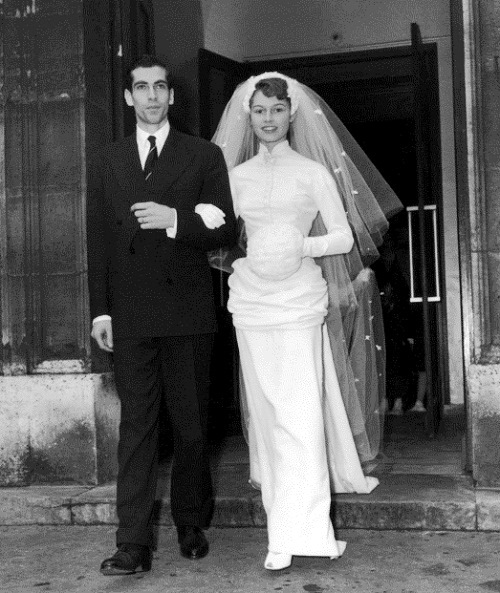 Marriage of Brigitte Bardot and Roger Vadim, 20 december, 1952