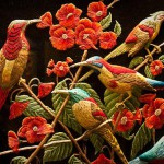 Birds of paradise. 3D embroidery by Sheikh Shams Uddin