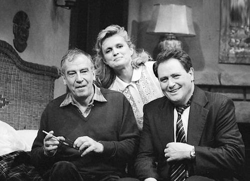 Marie-Christine Barrault, Roger Vadim and Victor Lanoux 1991