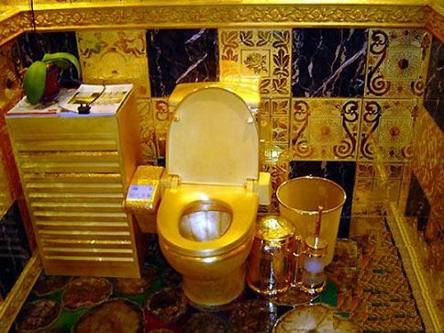 Toilet of gold Lenin dream come true