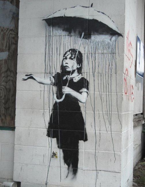 A false sense of protection. Banksy's Environmental Message