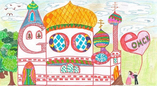 Alisa Zhalnina, Omsk. Russian children in a special school contest Doodle 4 Google