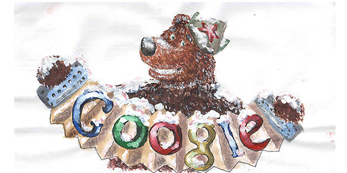 Russian children in a special school contest Doodle 4 Google