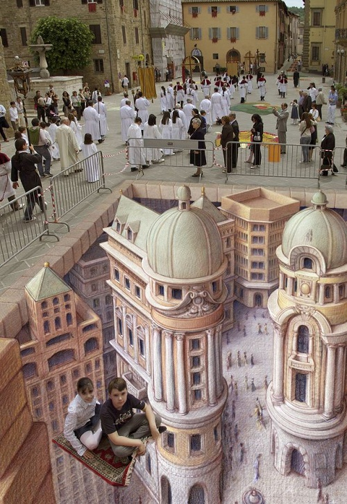 Arabian fantasy city. 3D images by Kurt Wenner