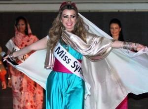 Beauty Queen of the Syrian Arab Republic, Nadine Fahd, elected Miss Arab world 2012