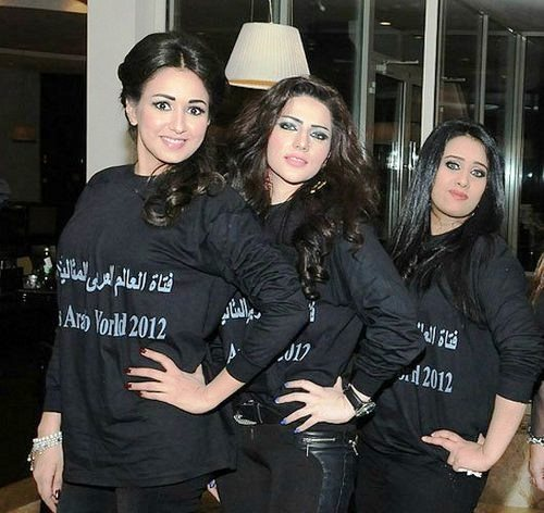 Contestants of Miss Arab world pageant