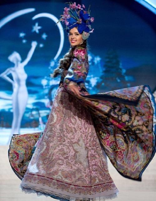 Miss Universe 2012 contestants in national costumes. Elizaveta (Elizabeth) Golovanova, Russia