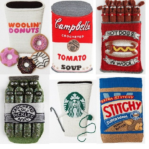 Crocheted food by Kate Jenkins
