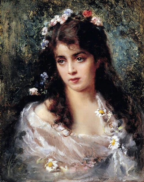Girl dressed as Flora