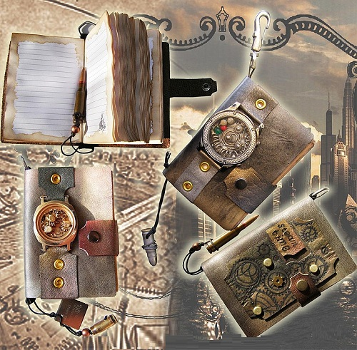 Steampunk notebooks by Asiya Mahdi