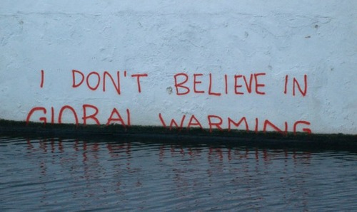 I don't believe in global warming. Banksy Environmental Message