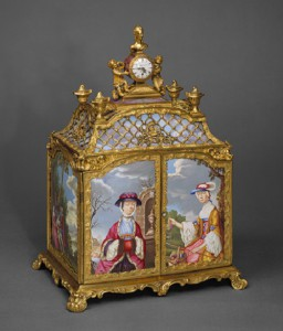 Jewel cabinet incorporating a watch, possibly before 1766