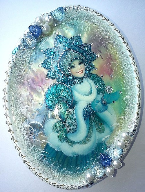 Snowmaiden. Jewelry boxes by Vesnushka