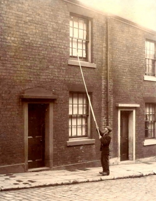 Knocker-uppers 100 years ago