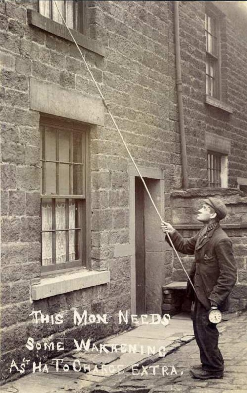 British Knocker-uppers 100 years ago