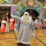 Greeting guests, Father Frost. New Year's day and Christmas celebration at Kremlin Palace