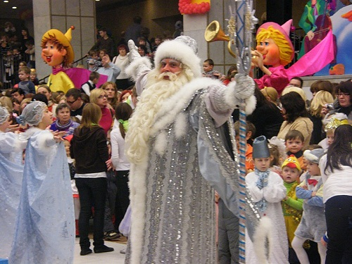 Ded Moroz, aka Russian Santa. New Year's day and Christmas celebration at Kremlin Palace