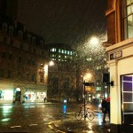 Rainy evening in London. Instagram photo competition