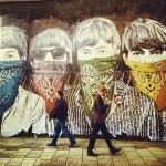 The legendary Liverpool quartet – graffiti on the wall. Instagram competition photo