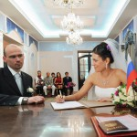 Russian couple. Married on a once-a-millennium date 12-12-12