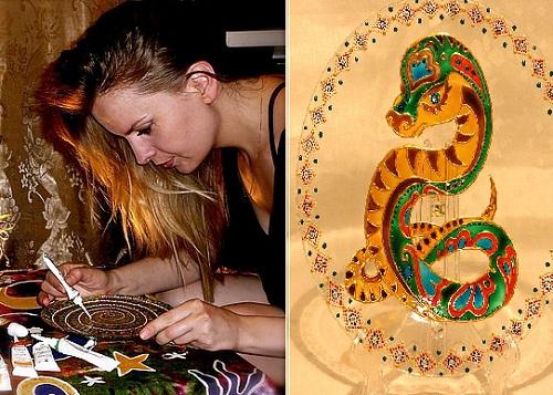 Russian artist Tatyana Zinkovskaya