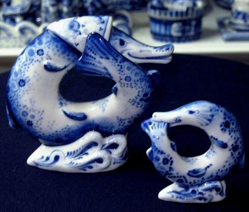 Gzhel ceramics by Sergei Karpukhin